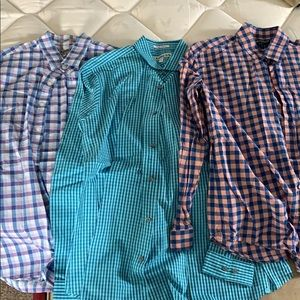 Set of 3 men's large long sleeve button down shirt